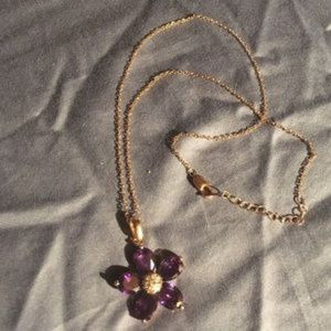 Jewelry - Rose Gold Amethyst Necklace